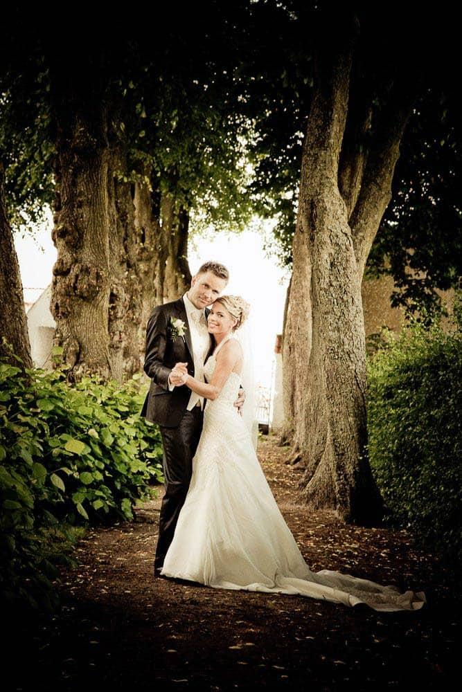 Bryllupsfotos i slotsparken