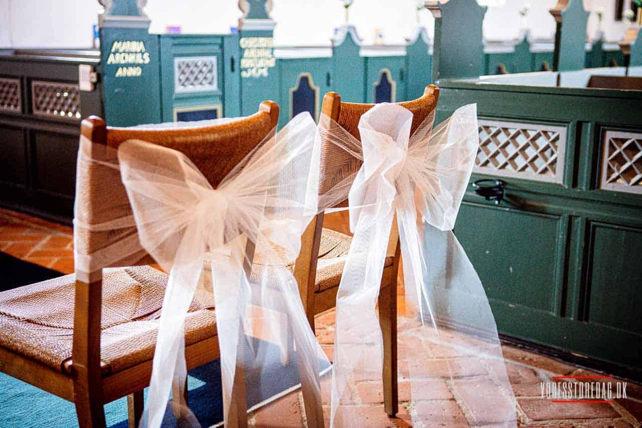 Romantisk bryllup på Tyrstrup Kro i Sønderjylland
