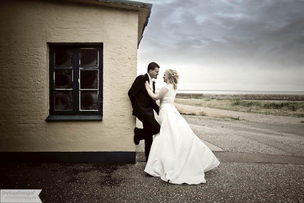 Brudepar Allan og Ditte