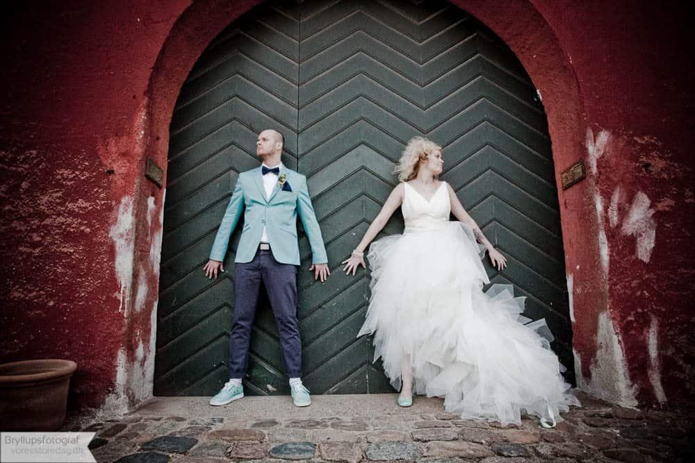Brudepar Louise og Frederik