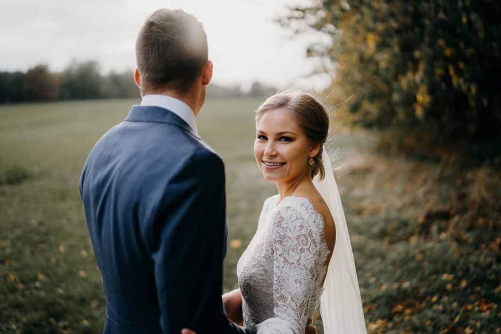 Bryllupsfotografering ved Gl. Løgten Strandkro bryllup