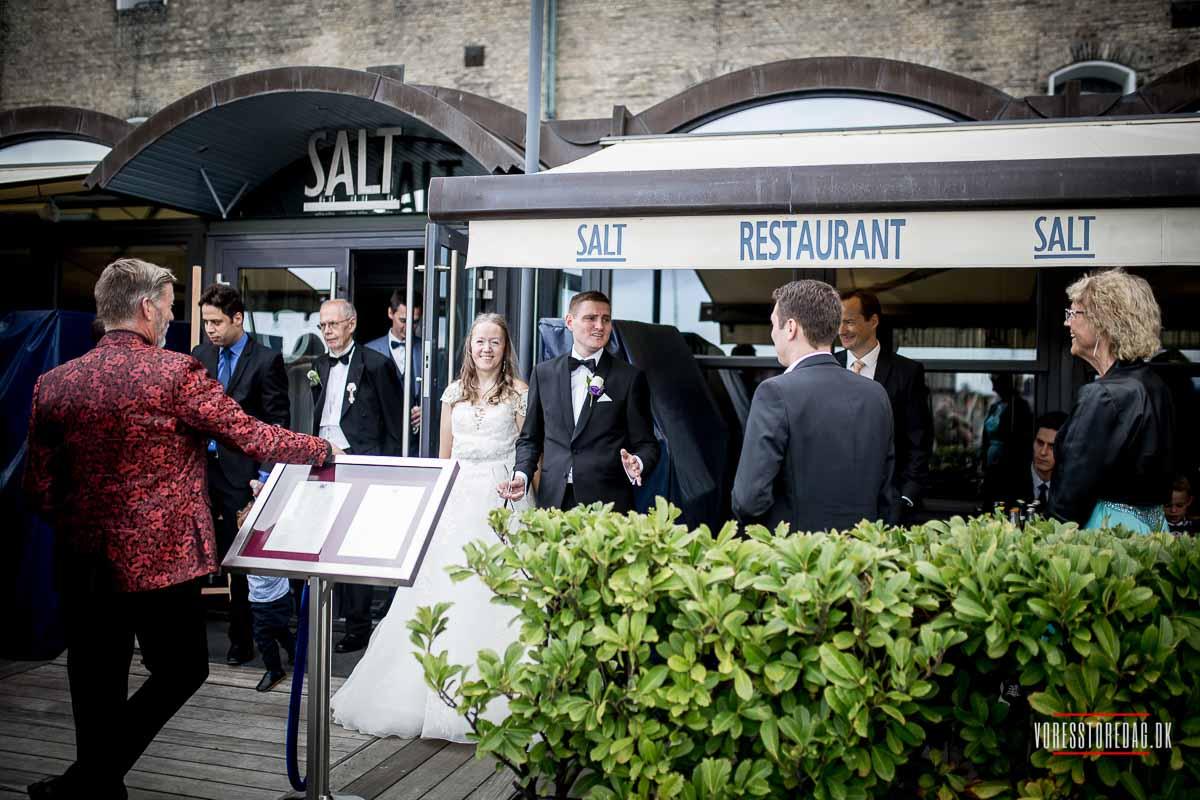 Billederne af admiral hotel bryllup
