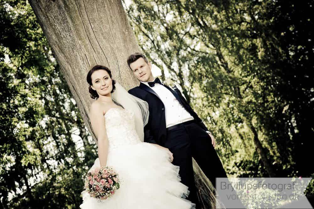 Jeanne og Lars brudepar