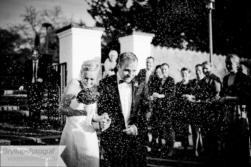 Bryllupsfoto ved Ubberud i Ubberud kirke