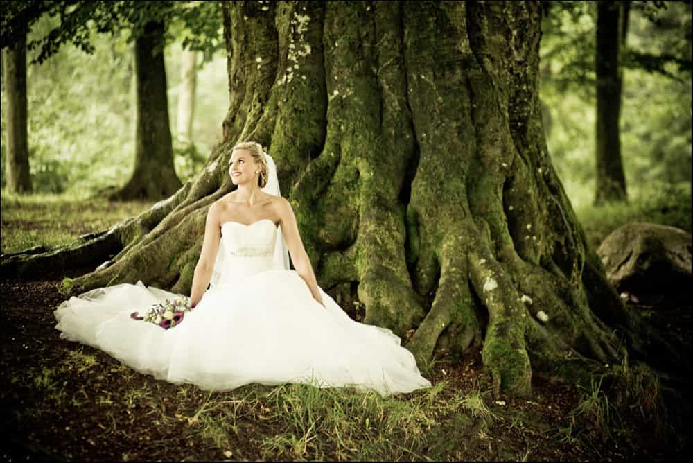 fotograf i tarm bryllup