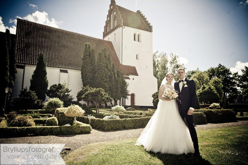 Døllefjelde kirke brudepar