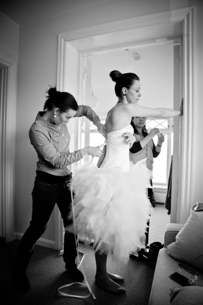 Brudeparret Rasmus og Mette