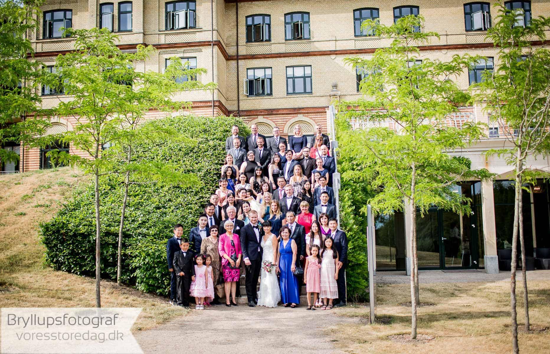 gruppefoto vejlefjord bryllup