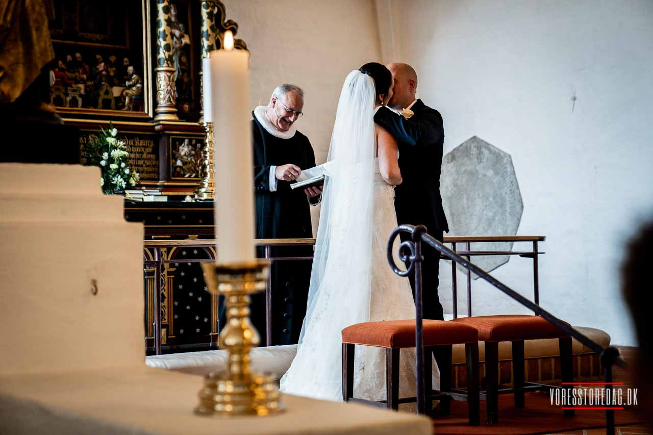 Bryllup. Sct. Catharinæ Kirke, Hjørring