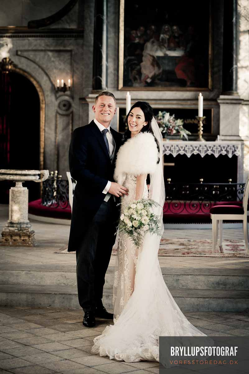brudepar i Valdemars slotskirke