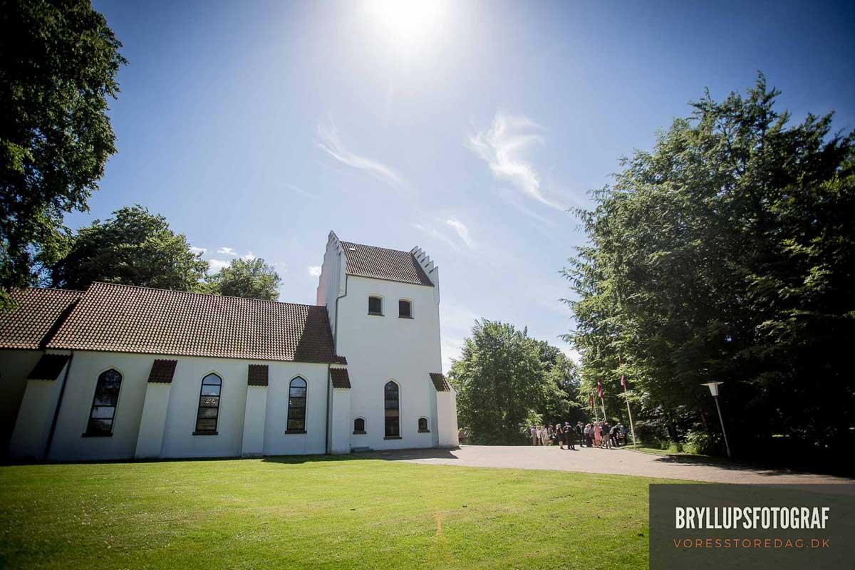 bryllupsfoto Mølholm Kirk