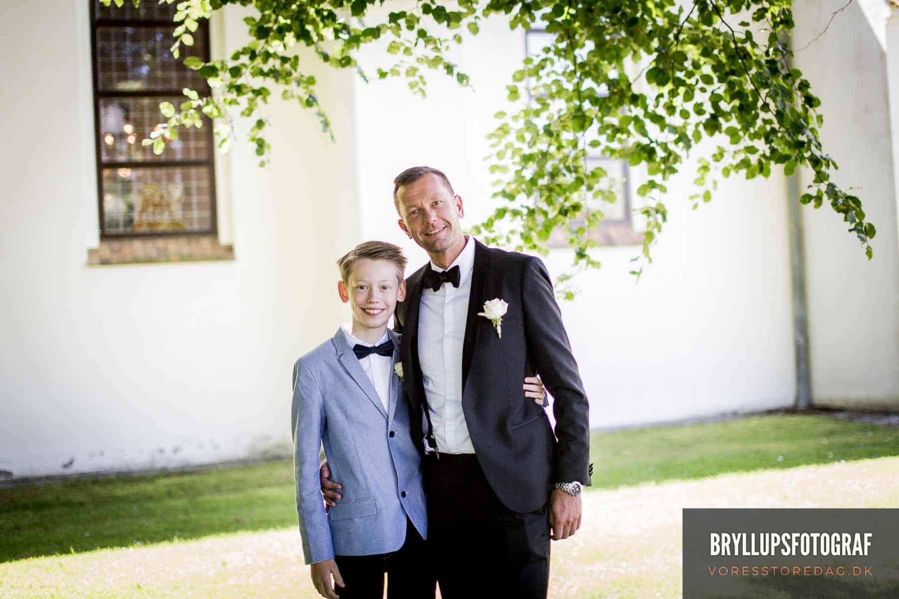 gom og søn Mølholm Kirke bryllup