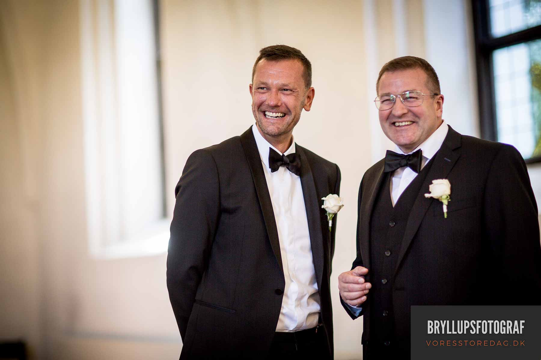 gom og bestman Mølholm Kirke bryllup