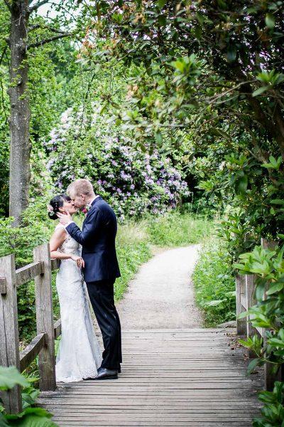 bryllupsfoto i skov