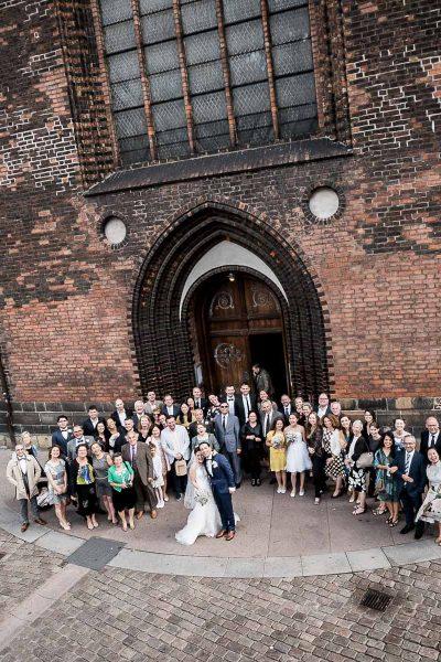 Aarhus domkirke bryllup drone