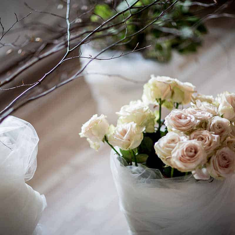 blomster ved bryllup