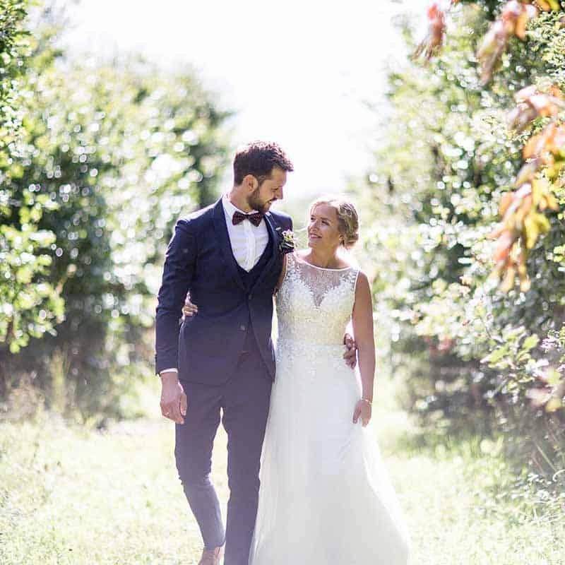 Bryllup på Kongebrogaarden i Middelfart på Fyn