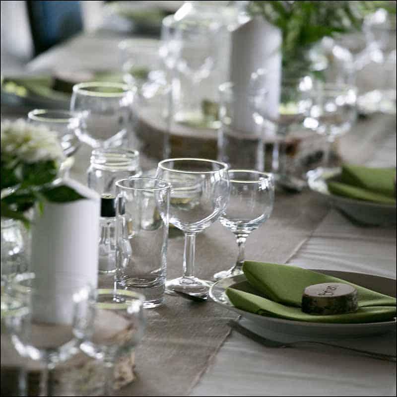 bordet ved bryllup