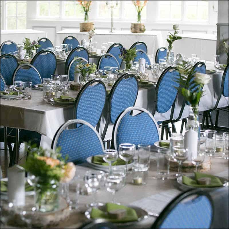 bordpyntet bryllup bord
