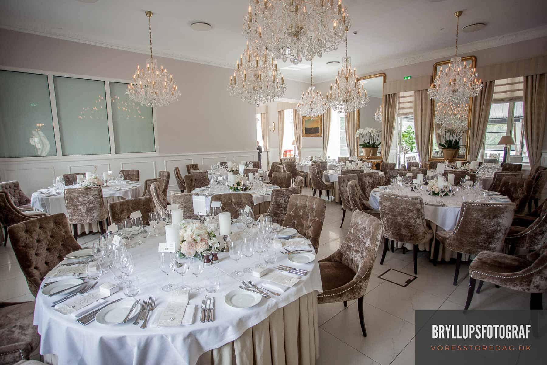 kokkedal slot bordopdækning bryllup