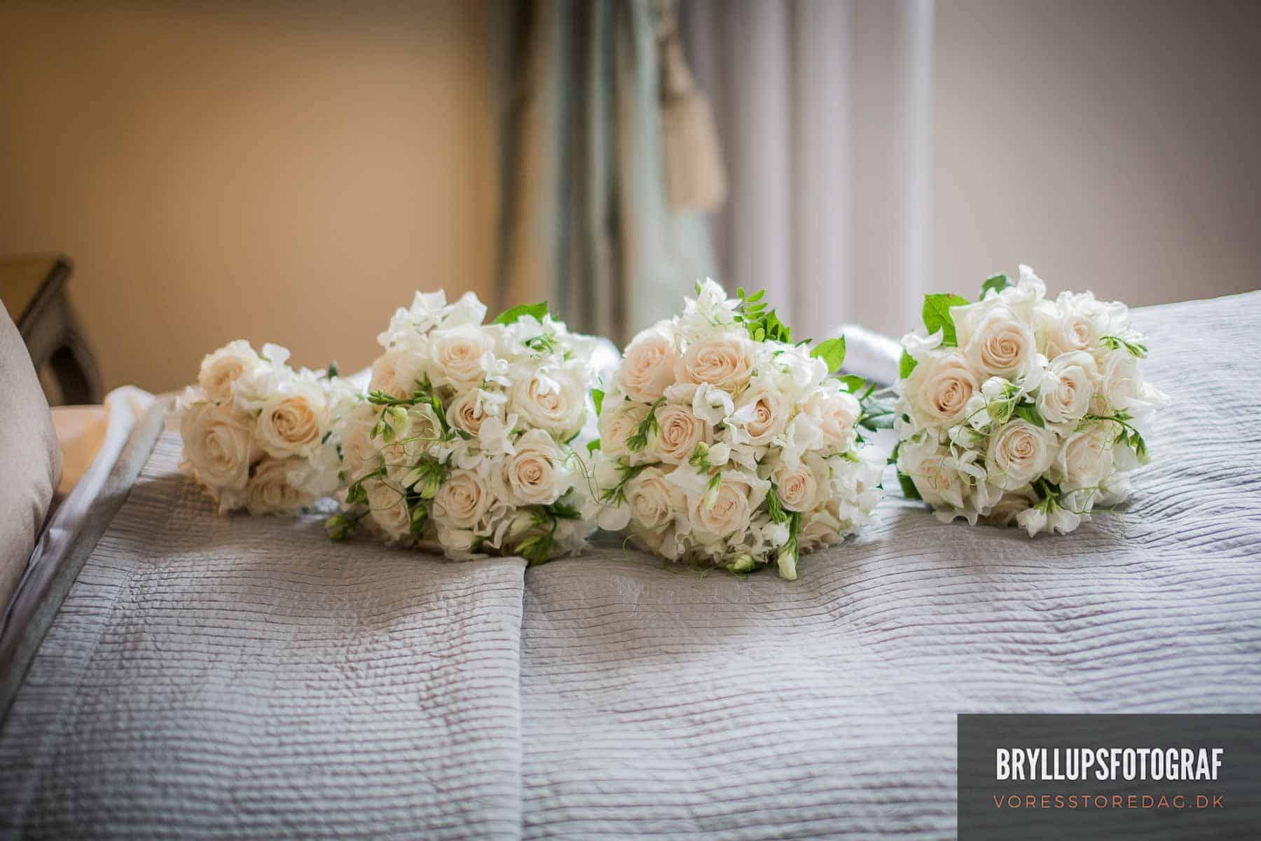 brudebuketter og blomster kokkedal slot
