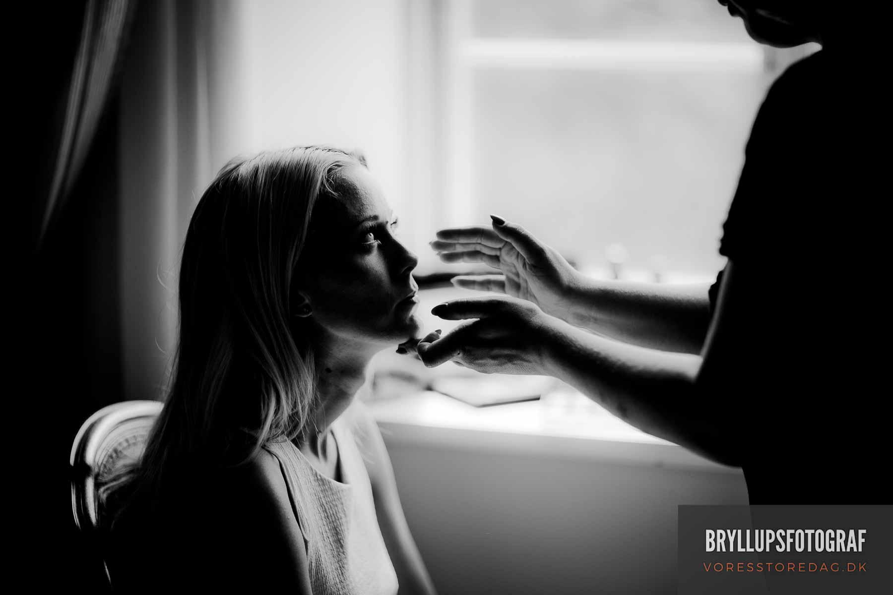 brudens makeup Nordsjælland