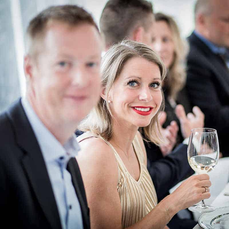 gæster ved bryllup