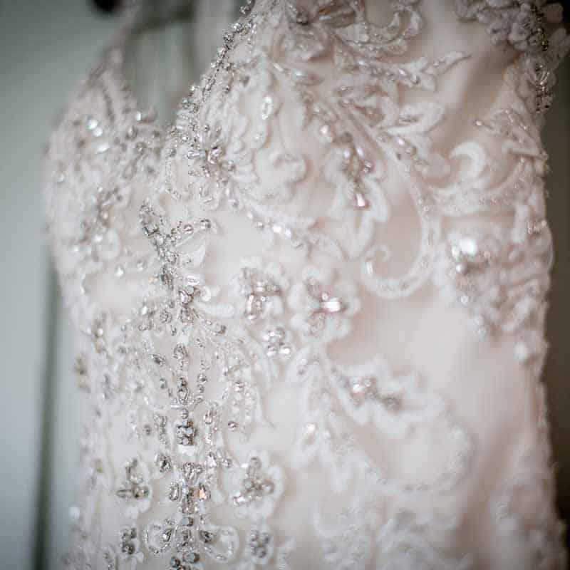 udsnit af brudekjole
