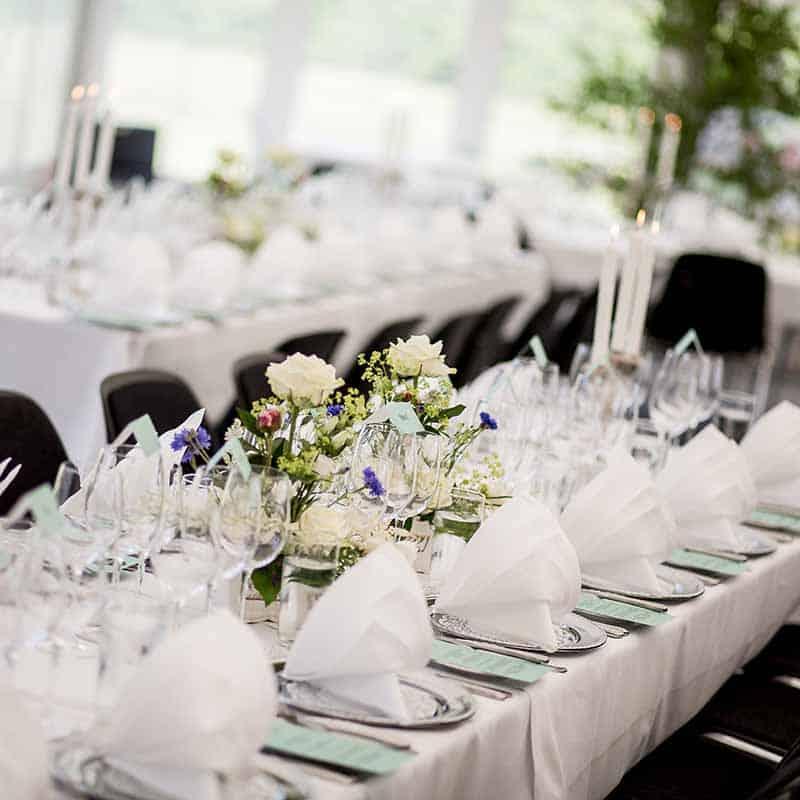 bordopdækning ved jeres bryllup