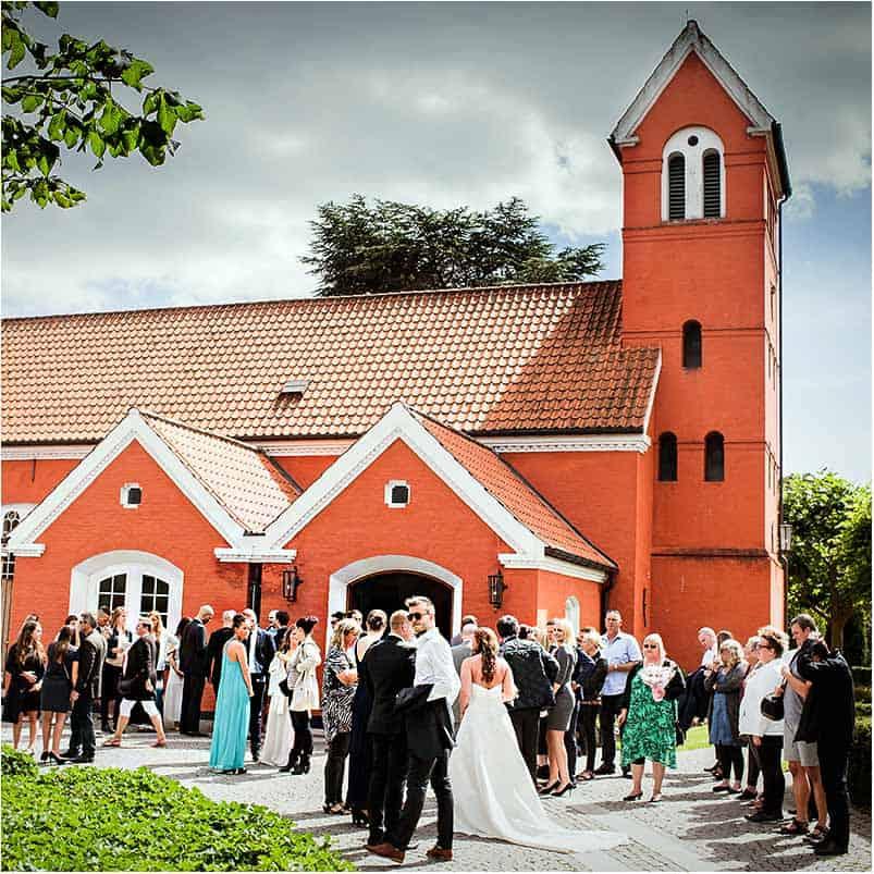 bryllupsfoto fra Rødovre Kirke