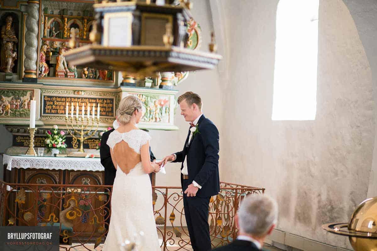 brudepar i Vadum Kirke