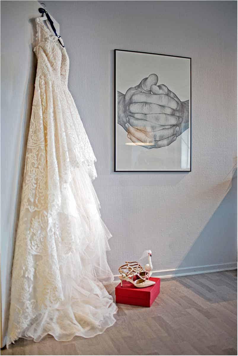 utraditionel brudekjole Virum
