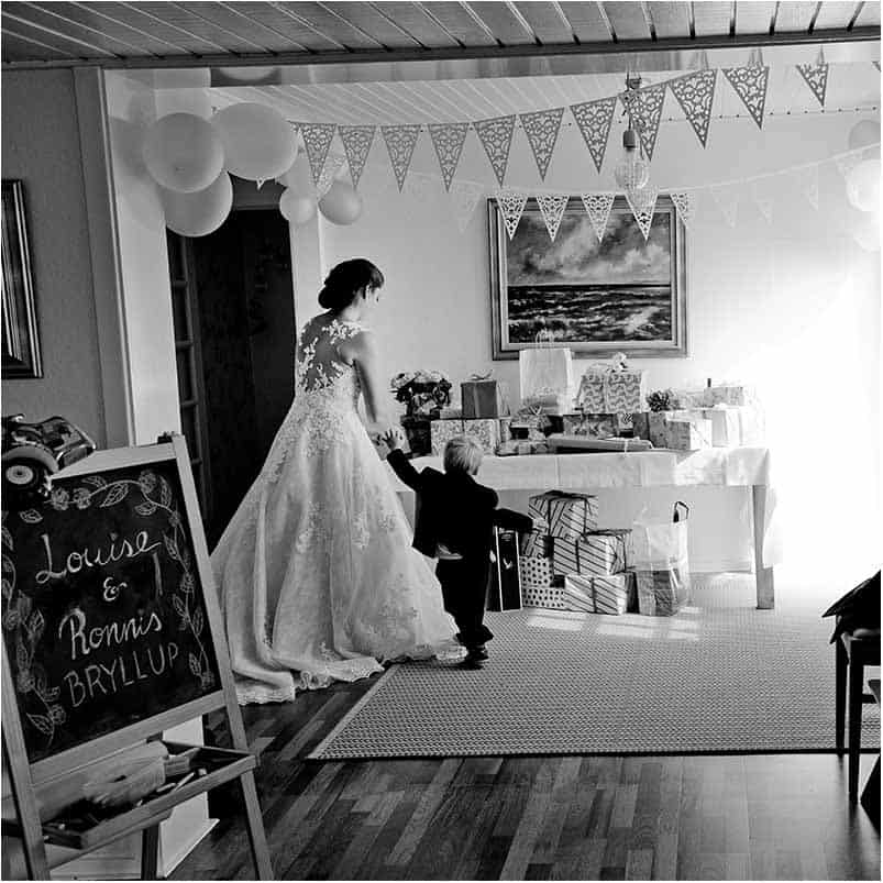 Fotodokumentarisk bryllupsfotos Herning