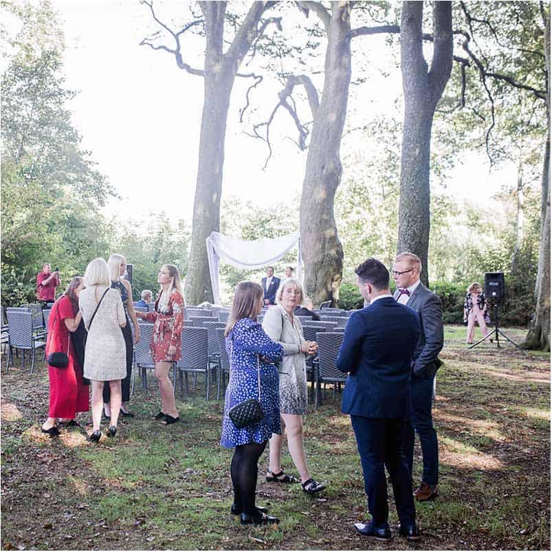 bryllup på sjælland i Sophienberg Slot