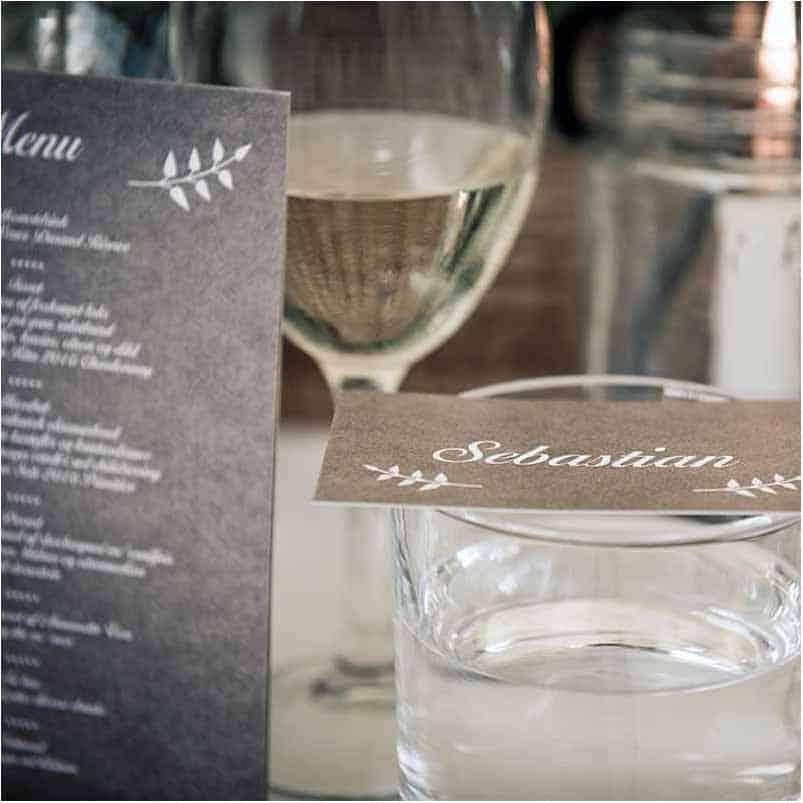 bord opdækning til bryllup