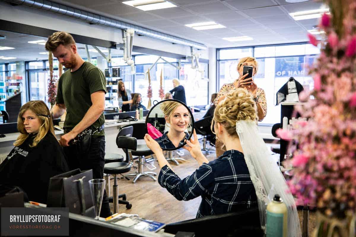 Bryllups hår vedArt of Hair Svendborg