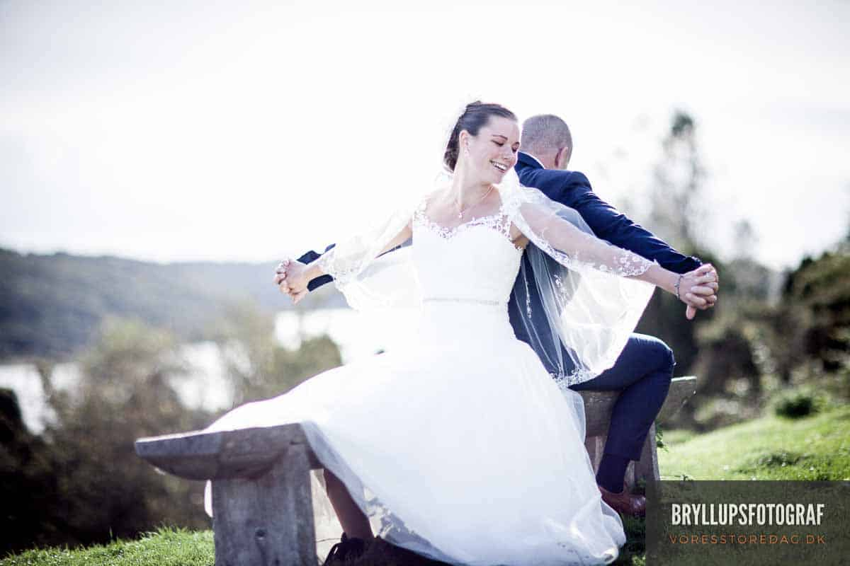 bryllupsbillede aften