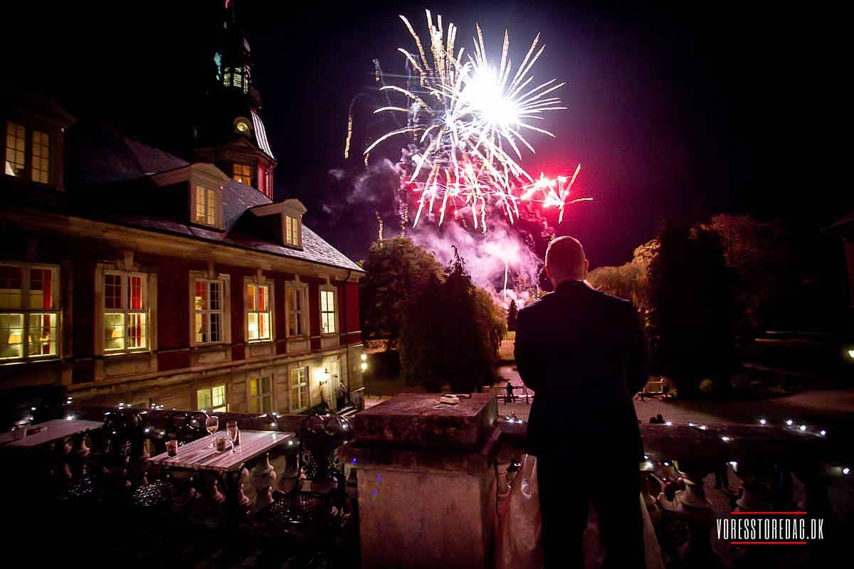 wedding fireworks Denmark