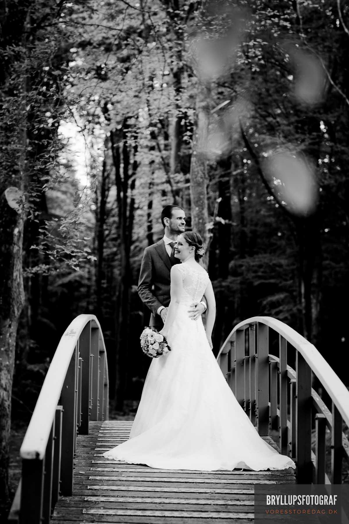 Bryllup i skoven ved fjorden