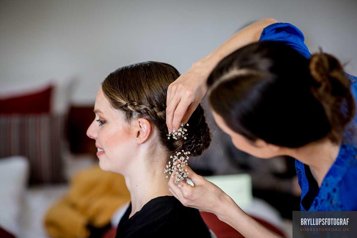 bruden sætter hår skarrildhus