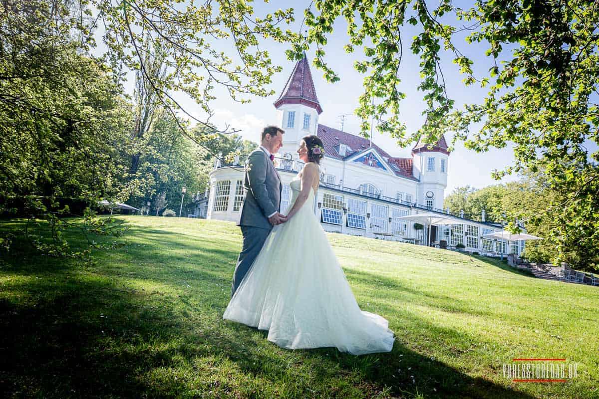 Bryllupsfotografering ved og omkring Varna Palæet ved Aarhus