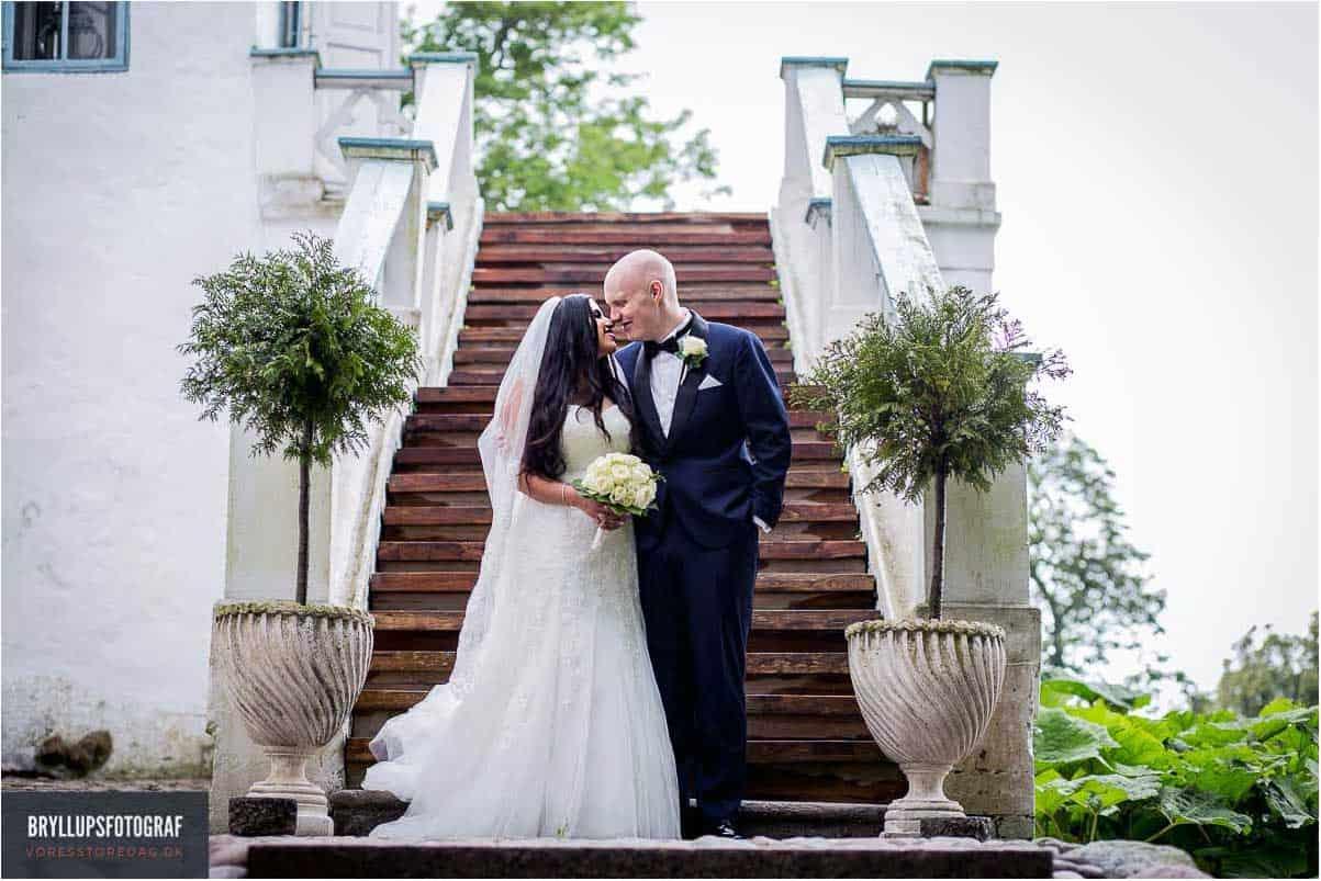 portrætter af brudeparret