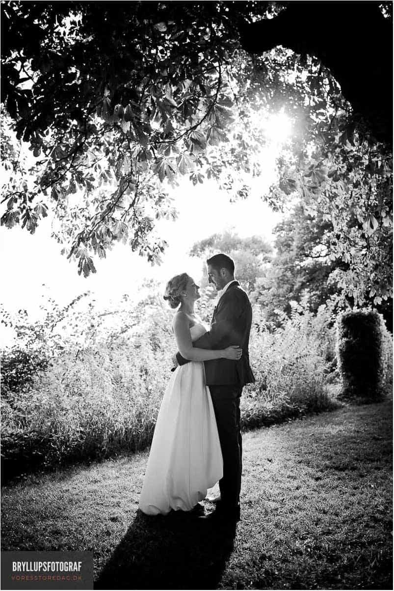 bryllupsportræt i Skov