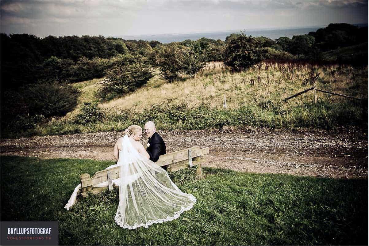 portræt af brudeparret