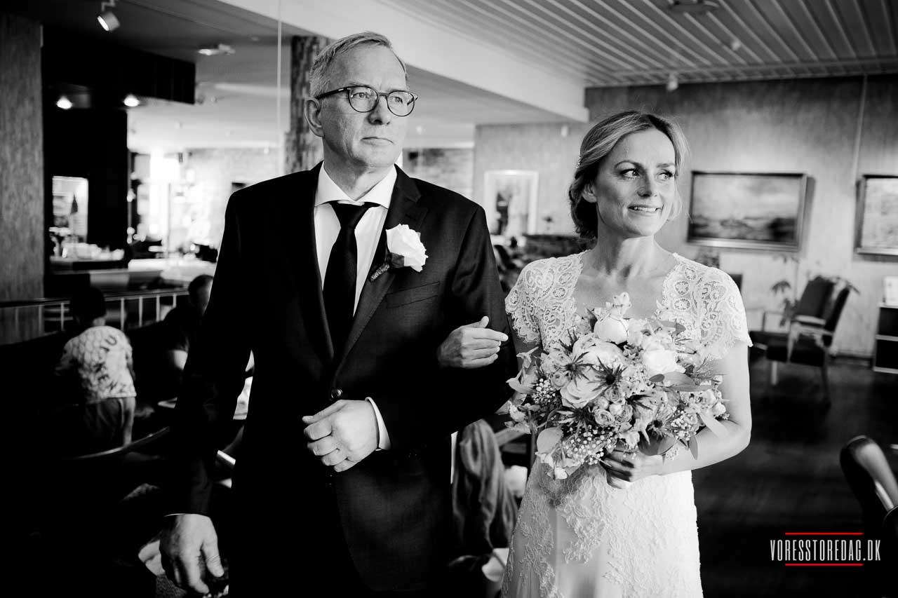 Brylluppet foregik i den norske sømandskirke i København