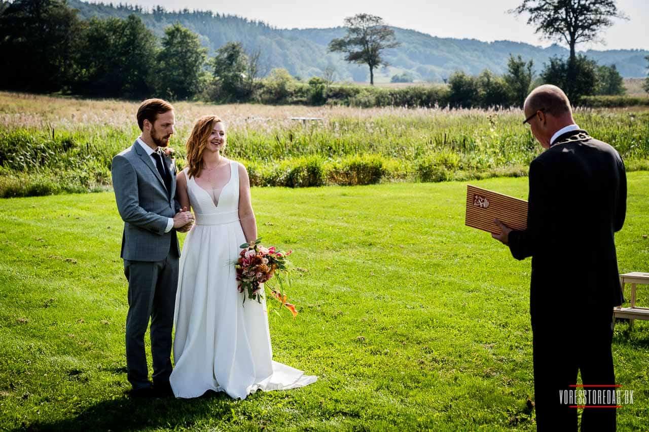 Bryllup på en historisk herregård uden for Vejle