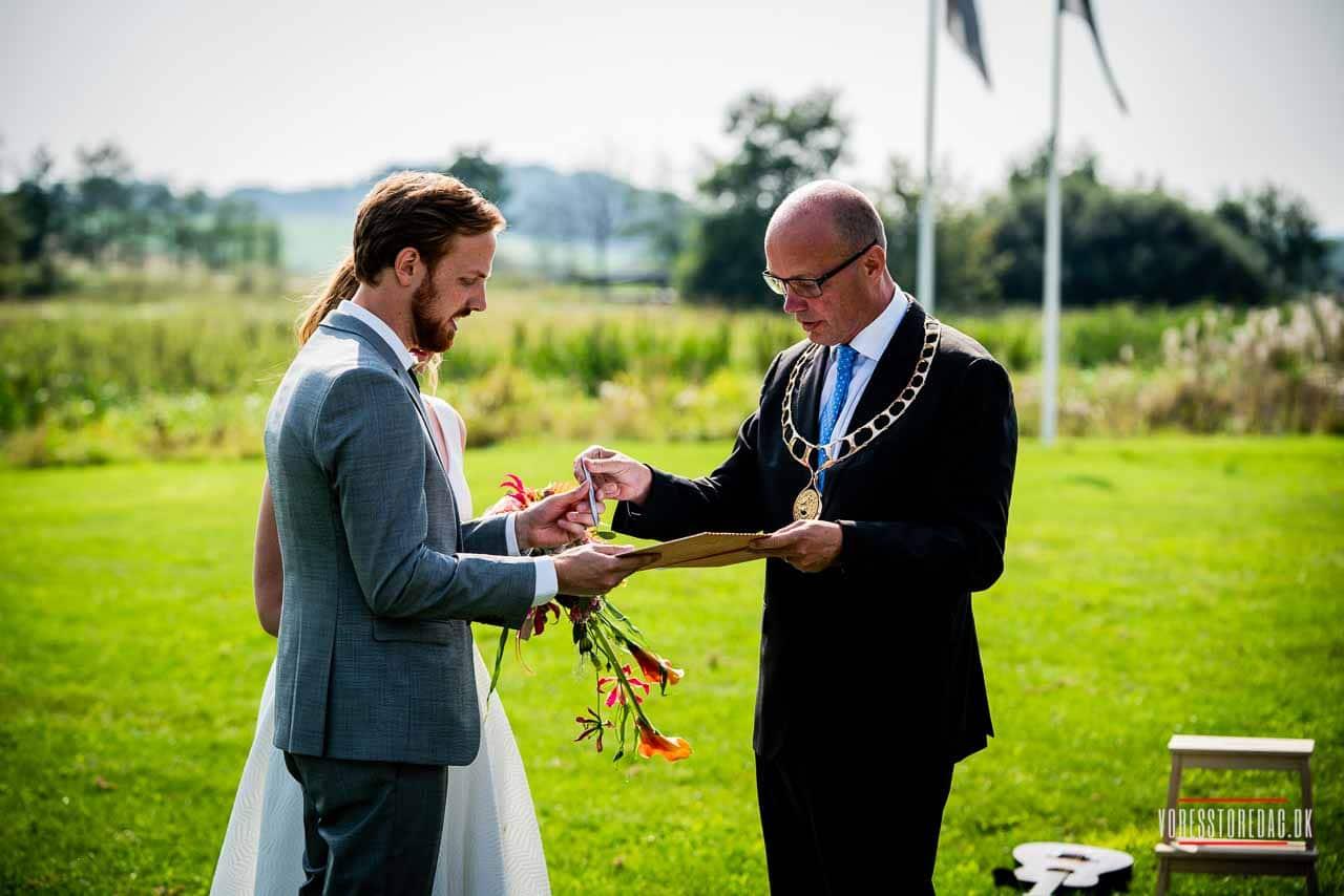 Fremragende ramme omkring vores bryllup