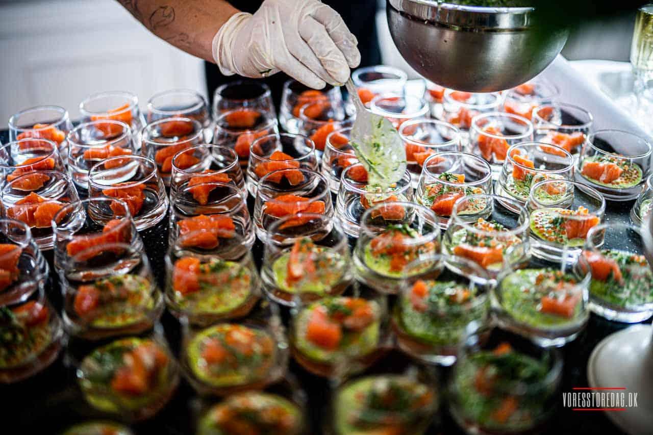 Bryllup: Små detaljer fra middagen