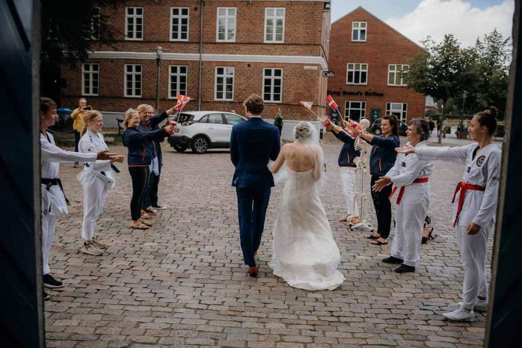 Et bryllup er naturligvis er en festlig lejlighed