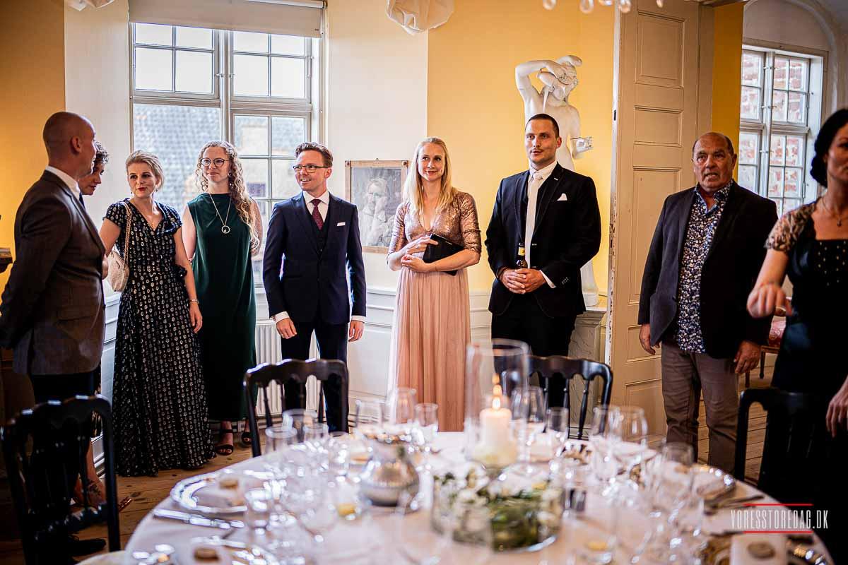 bryllupsfest på Broholm slot